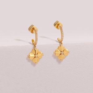 New kate spade Legacy  Flower Huggie Earrings